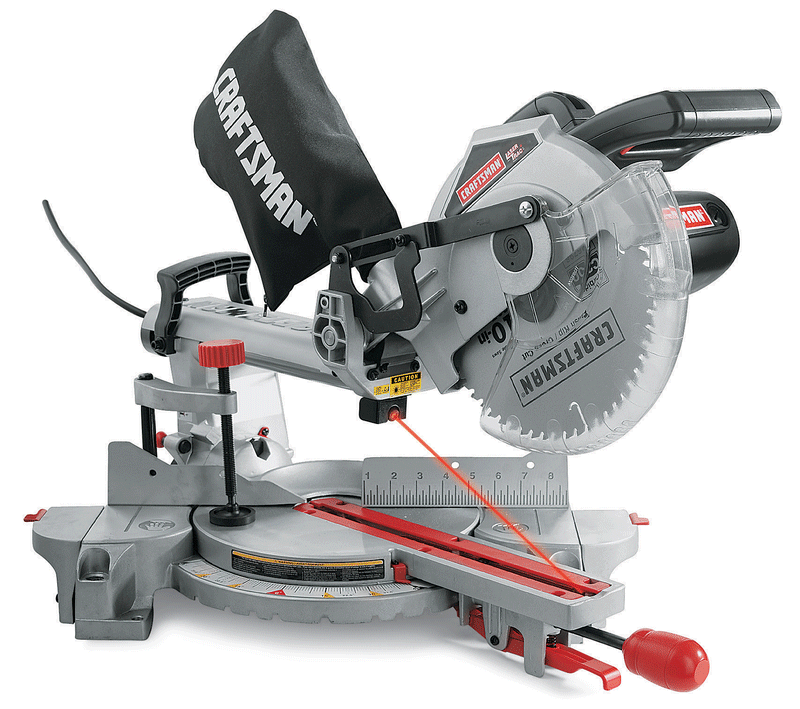 10-in. sliding compound miter saw with Laser Trac®