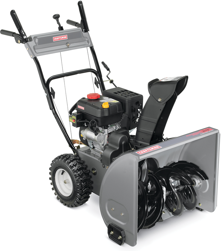 Two stage with electric start 24-in. clearing path 179cc engine