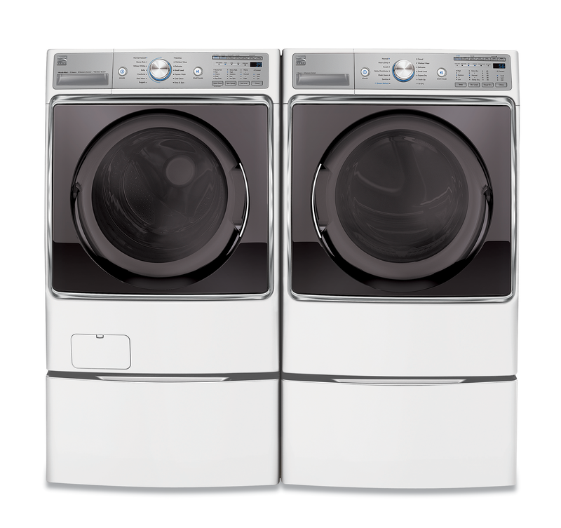 5.2 cu. ft. capacity Washer and 9.0 cu. ft. Dryer