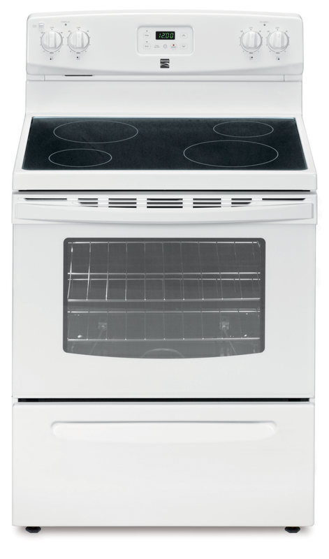 Electric range with ceramic glass cooktop
