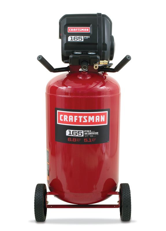 Craftsman&reg 33-gal. air compressor, vertical or horizontal