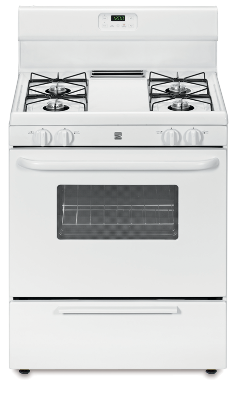 Kenmore gas range with broil and serve drawer