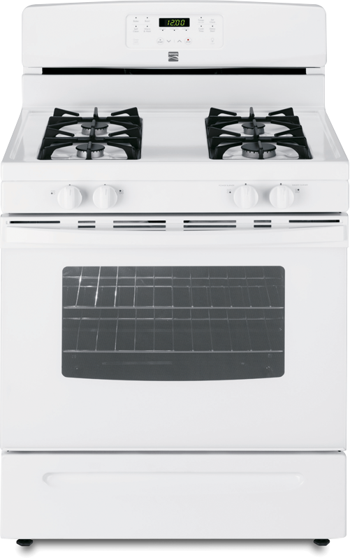 Kenmore gas range with 14,200 BTU power burner