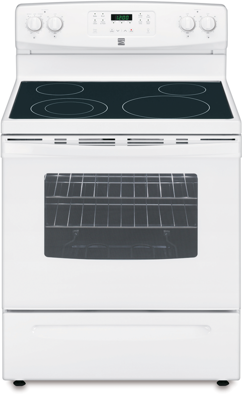 Electric range with 6-in./9-in. dual element