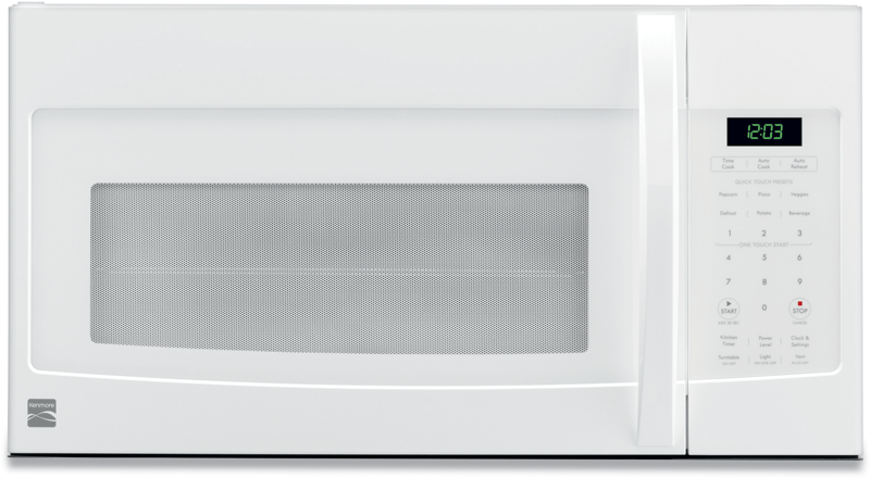 Kenmore 1.6 cu. ft. over the range microwave