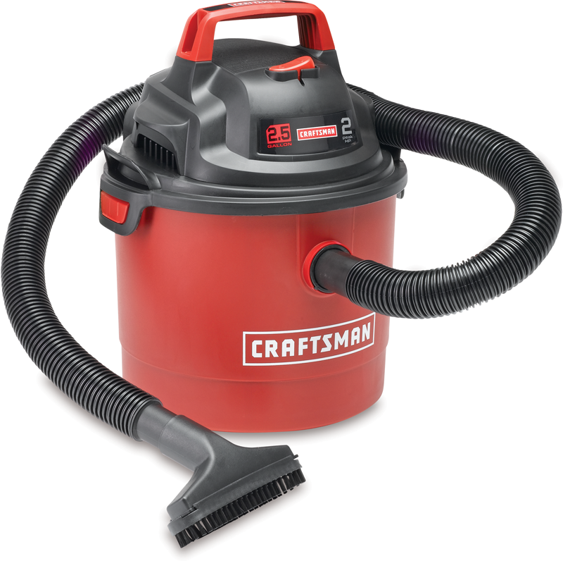 Portable 2.5 gal. wet/dry vac
