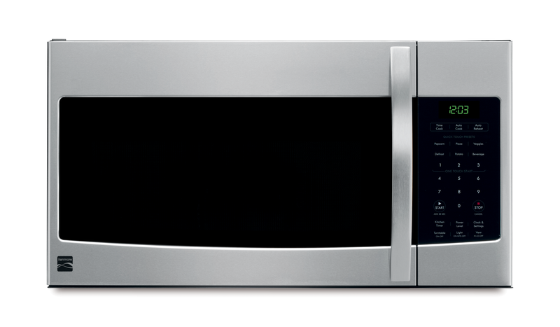1.6 cu. ft. capacity with one-touch controls and pre-programmed cook cycles