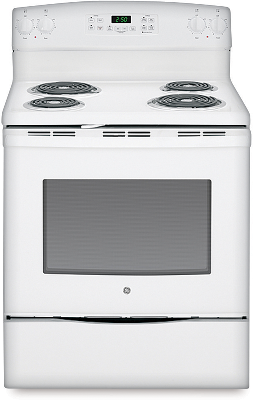 GE Self clean electric range with dual element bake