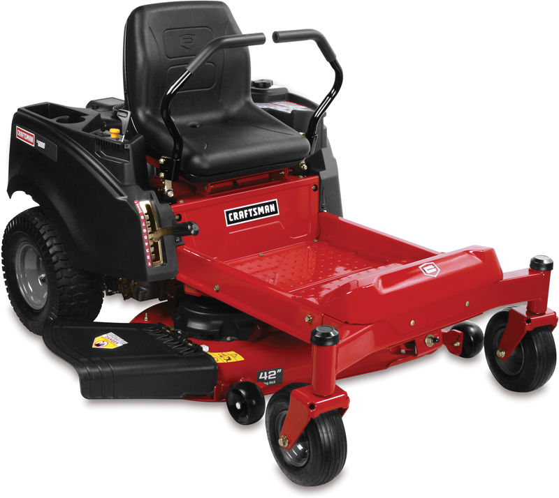 22-hp Briggs & Stratton Platinum V-Twin engine 42-in. deck Dual hydrogear EZT transmission 15-in. high back seat Zero turn riding mower