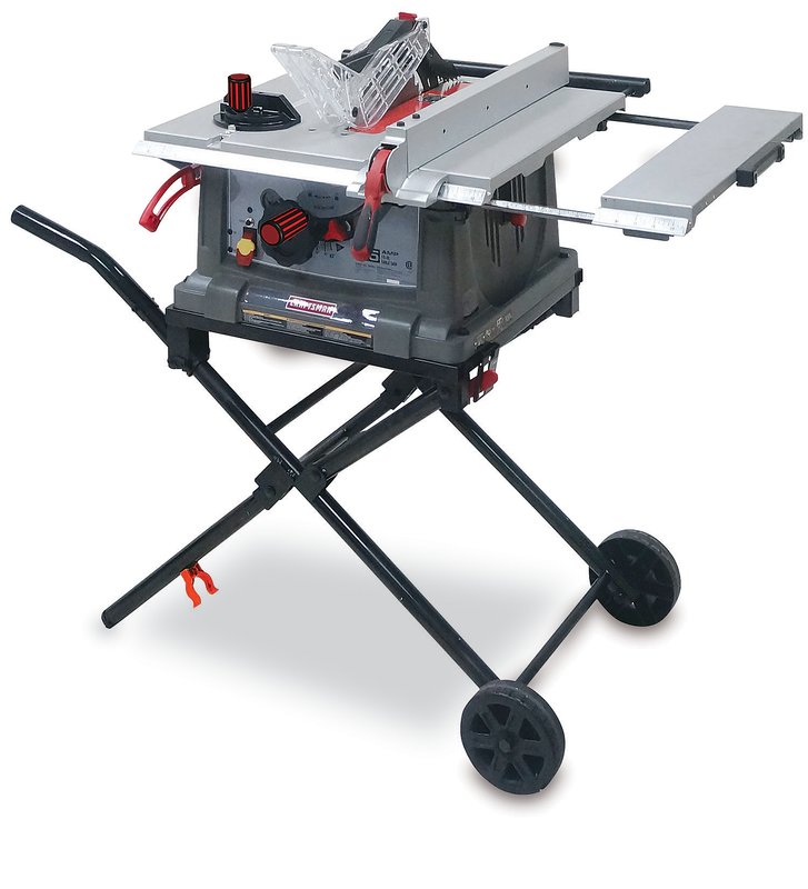 Craftsman 10-in. portable table saw with fold & roll stand