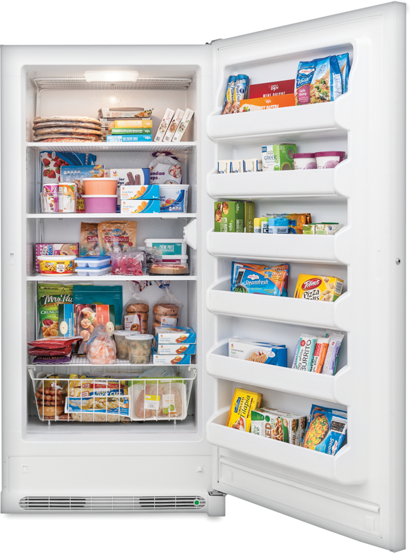 20.9-cu. ft. capacity upright with 4-shelves and door storage