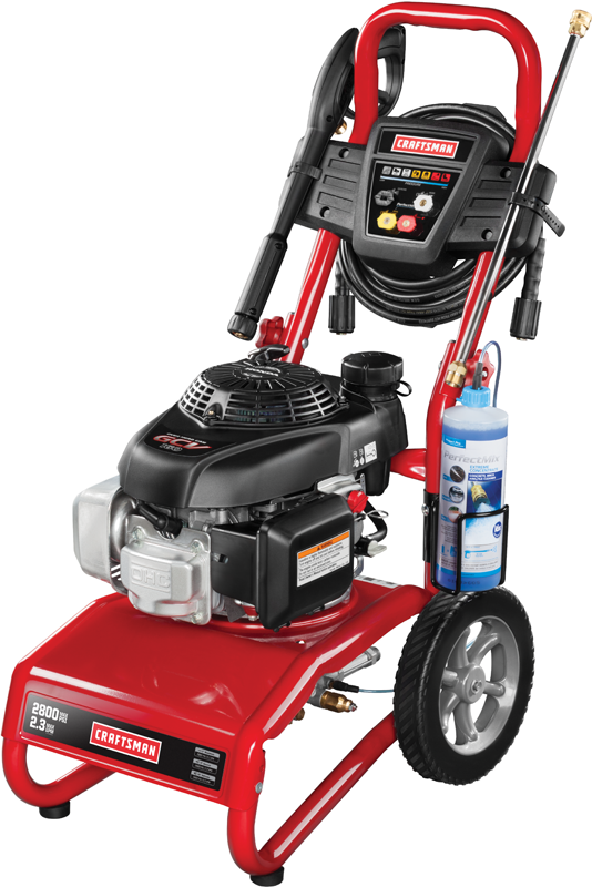 2800 Max PSI 2.3 GPM Honda powered gas pressure washer