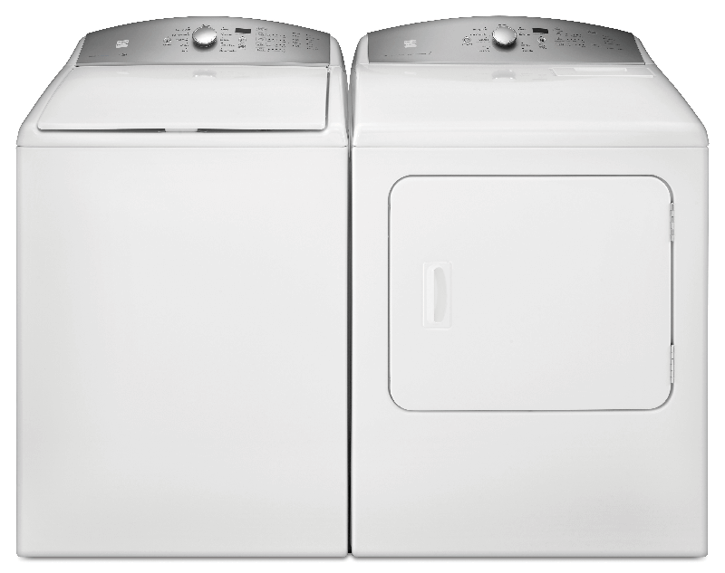 4.8 cu. ft. capacity top load high efficiency washer and 7.0 cu. ft. capacity electric dryer