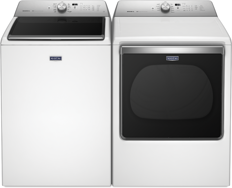 5.3 cu. ft. capacity top load high efficiency washer and 8.8 cu. ft. capacity electric dryer