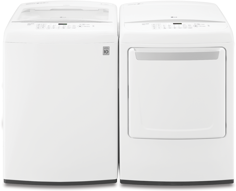 4.5 cu. ft. capacity with 6 Motion technology and TurboWash and 7.3 cu. ft. capacity electric with Sensor Dry system and Smart Diagnosis