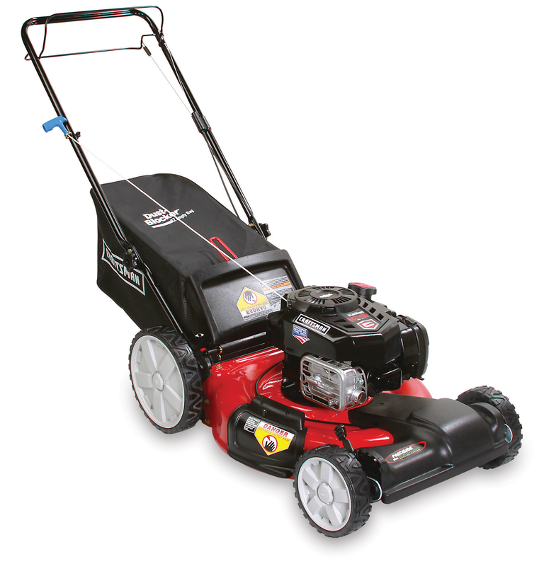 163cc Briggs & Stratton engine Side discharge, mulch and bag Front wheel propelled Just Check & Add Oil