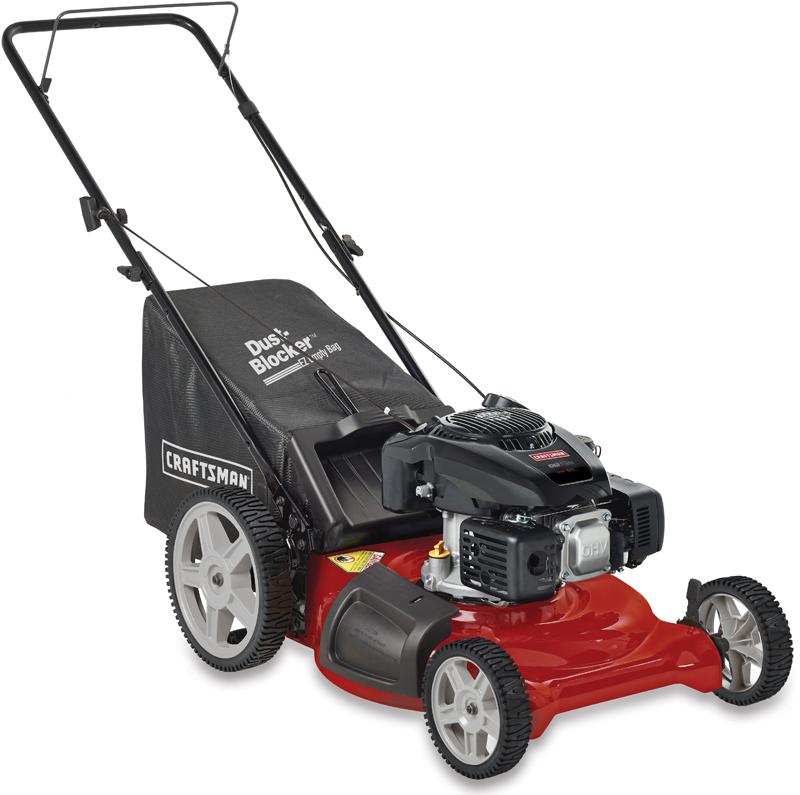 Craftsman&reg 149cc Kohler engine Rear bag push mower High rear wheels