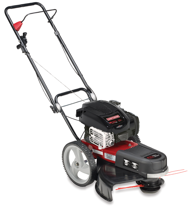 22-in. high wheel trimmer with Briggs & Stratton engine