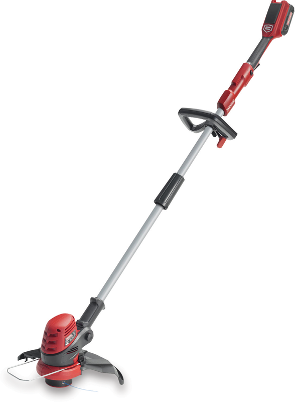 24V cordless string trimmer with lithium-ion battery and charger