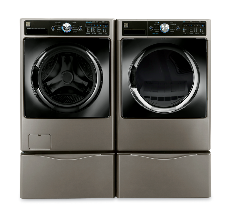 Kenmore Elite 4.5 cu. ft. front load steam washer and 7.4 cu. ft. front load electric steam dryer