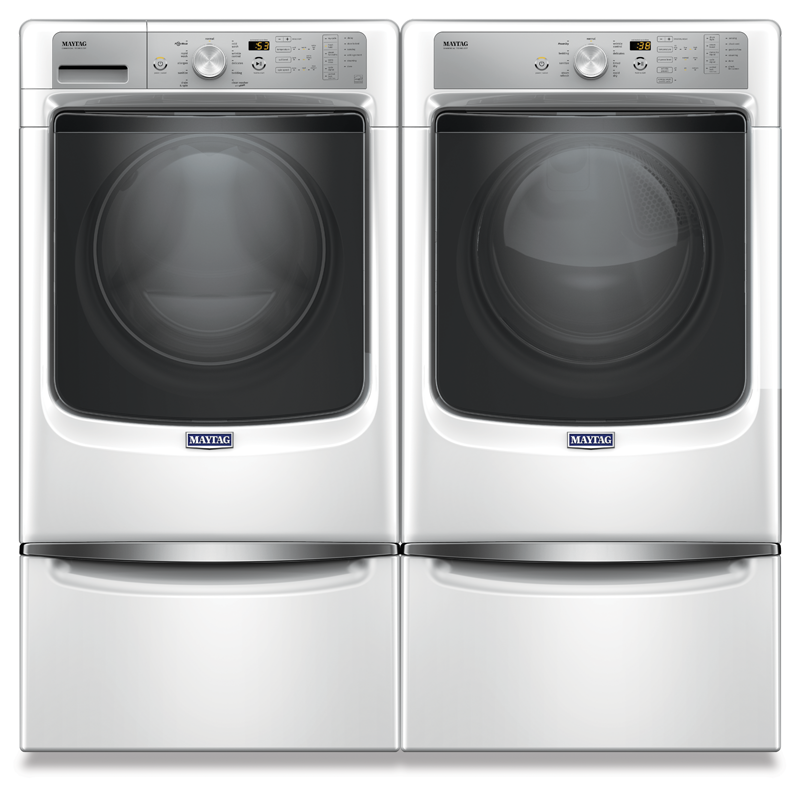 4.5 cu. ft. front load washer and 7.4 cu. ft. front load electric dryer
