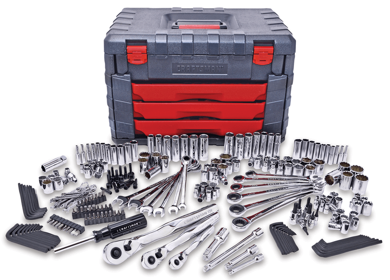 254-pc. mechanic's tool set with 75 tooth ratchets