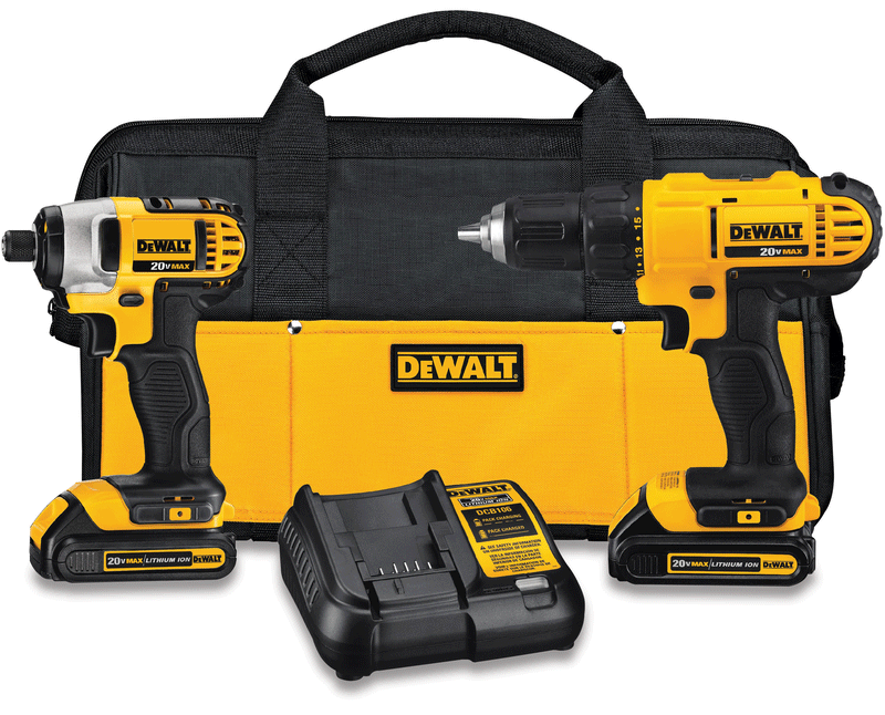 20-volt MAX cordless lithium-ion drill driver and impact driver kit
