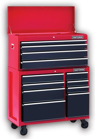 Craftsman&reg 41-in. 12-drawer ball-bearing tool storage combo