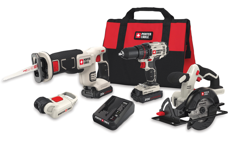 four tool 20-volt MAX lithium-ion cordless combo kit with soft case