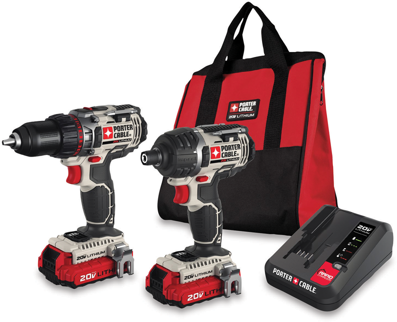 20-volt MAX lithium-ion drill driver and impact driver kit