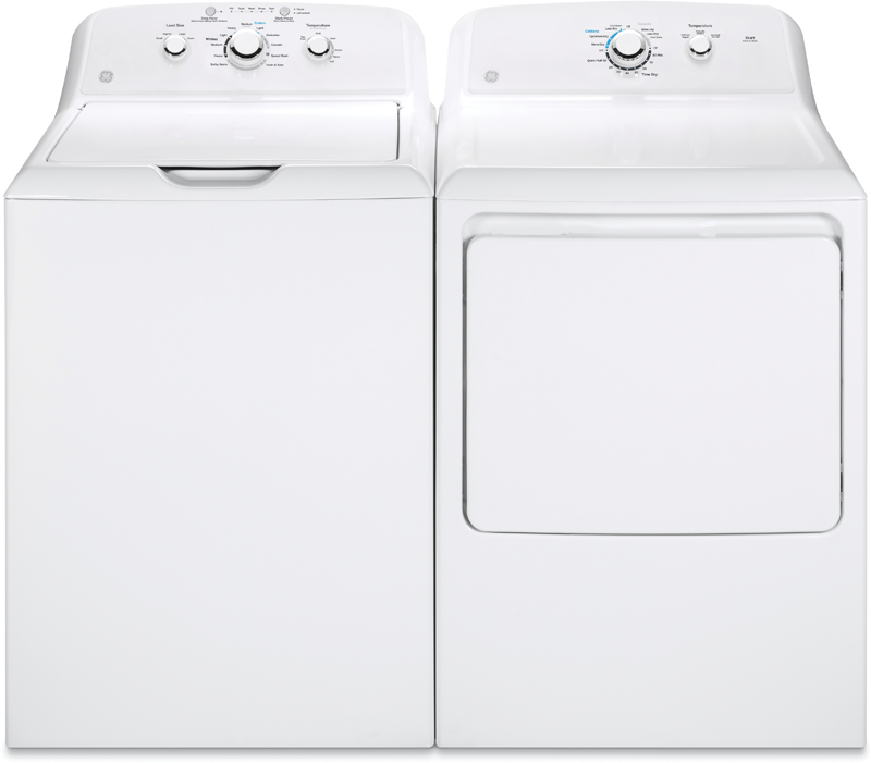 GE 7.2 cu. ft. electric with 3 heat selections and 4.2 cu. ft. capacity with stainless steel basket and six water temperatures