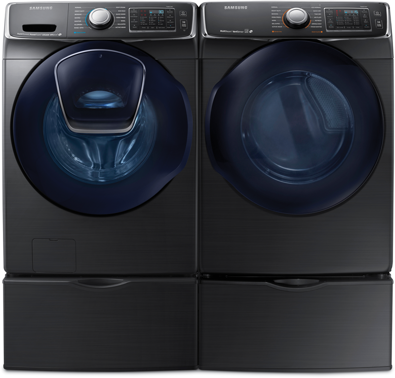 5.0 cu. ft. capacity Washer and 7.5 cu. ft. Dryer