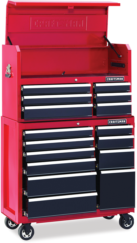 41-in. 16-drawer soft close tool storage combo Also available in black: