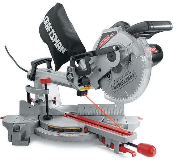 Craftsman&reg 10-in. sliding compound miter saw with Laser Trac®