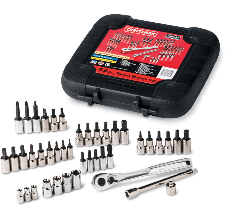 Craftsman 42 pc. 1/4 and 3/8 in. drive bit & torx bit socket wrench set