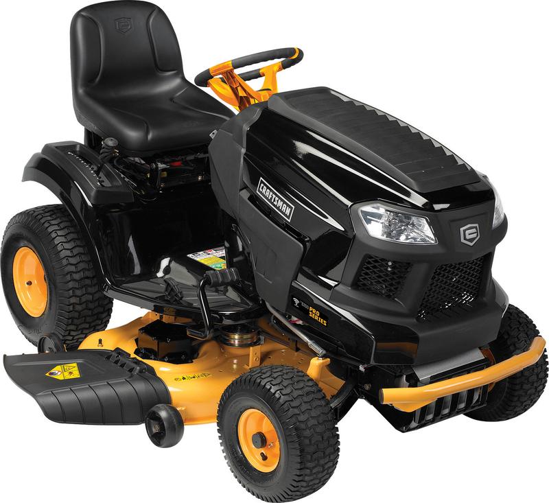 Craftsman Pro 24-hp Kohler 7000 Elite series V-Twin engine 46-in. deck Hydrostatic transmission Smart lawn technology 5-in. turning radius