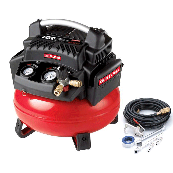 6 gallon oil-free pancake compressor