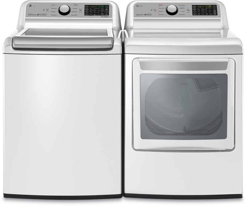 5.0 cu. ft. top load washer and 7.3 cu. ft. electric dryer