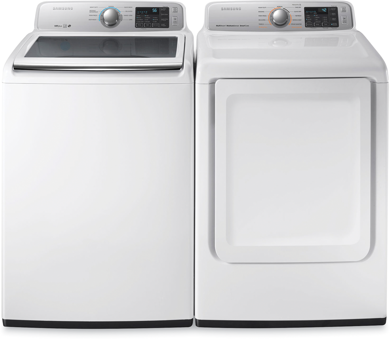 Samsung 4.5-cu. ft. top load washer and 7.4-cu. ft. capacity electric dryer