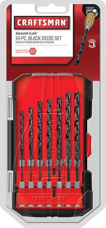 14-pc. Craftsman black oxide drill bit set