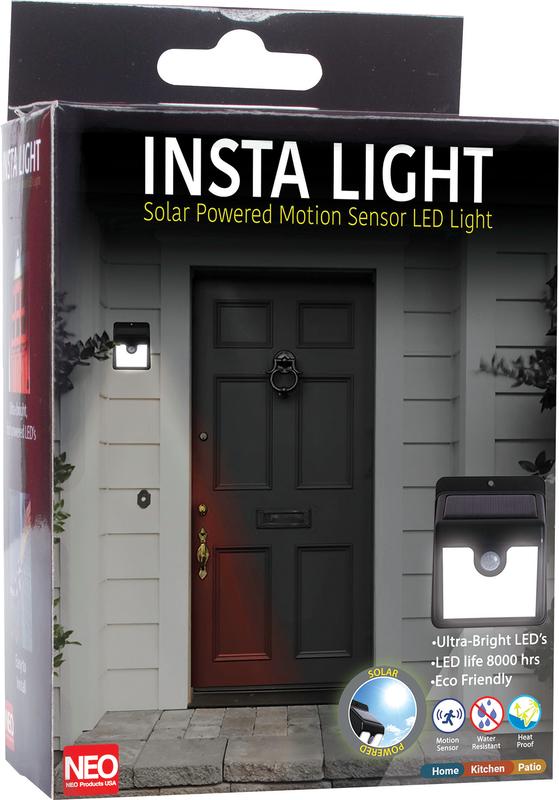 Insta light- Solar powered motion sensor led light