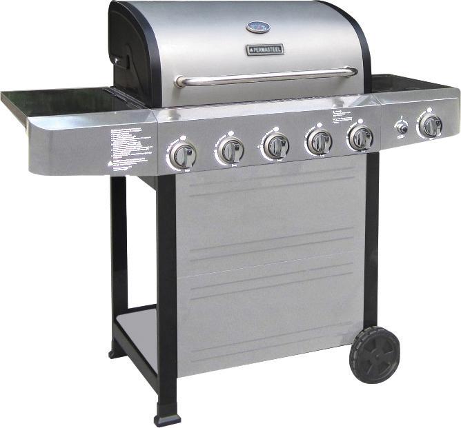 Perma-steel stainless steel 5-burner grill