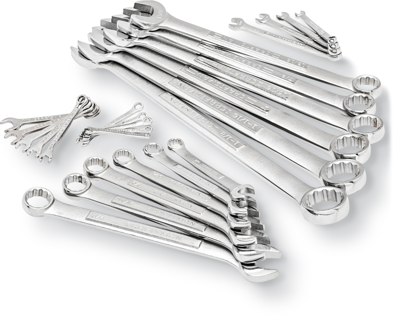 26-pc. combination wrench set inch or metric