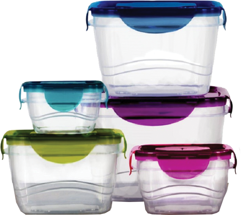 10-pc. plastic containers with locking lids