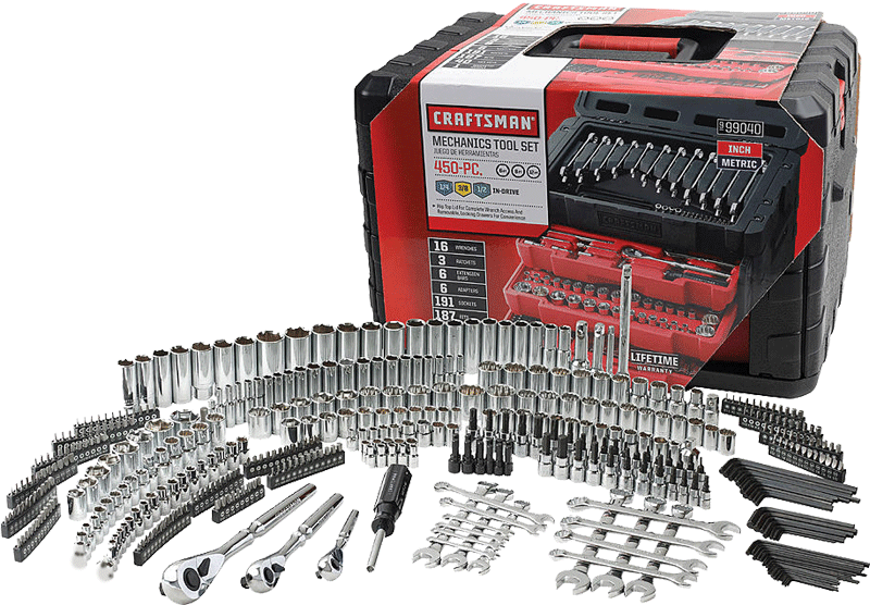 450 pc. mechanics tool set