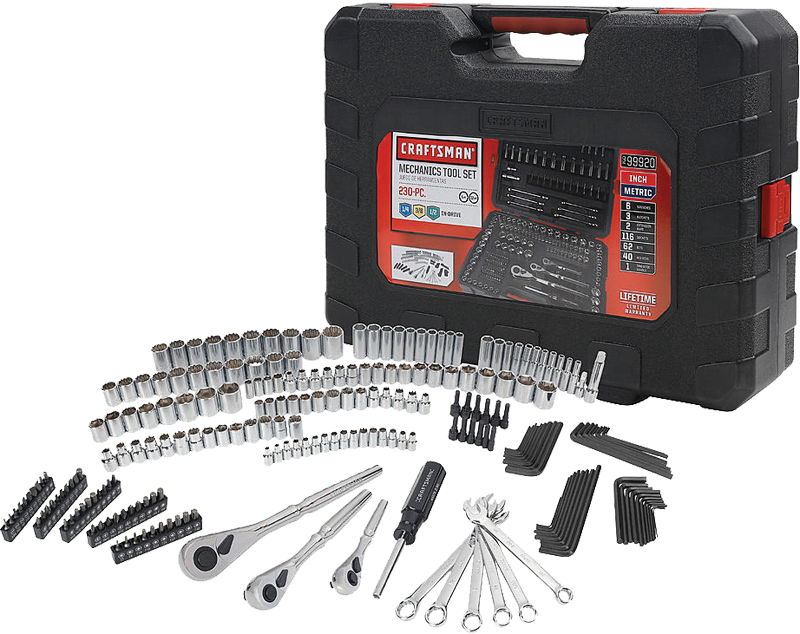 230 pc. mechanics tool set