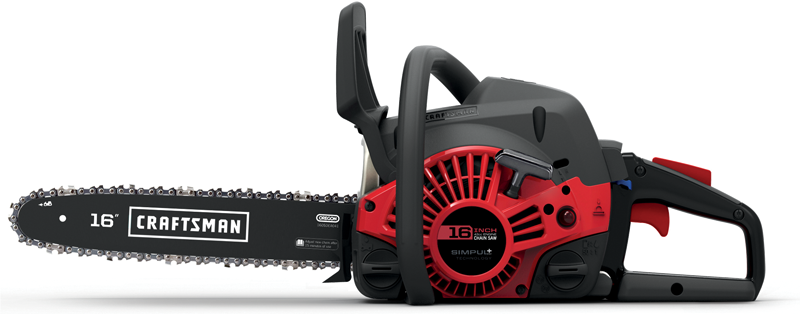 Craftsman&reg 16-in, 42cc gas powered chainsaw with case