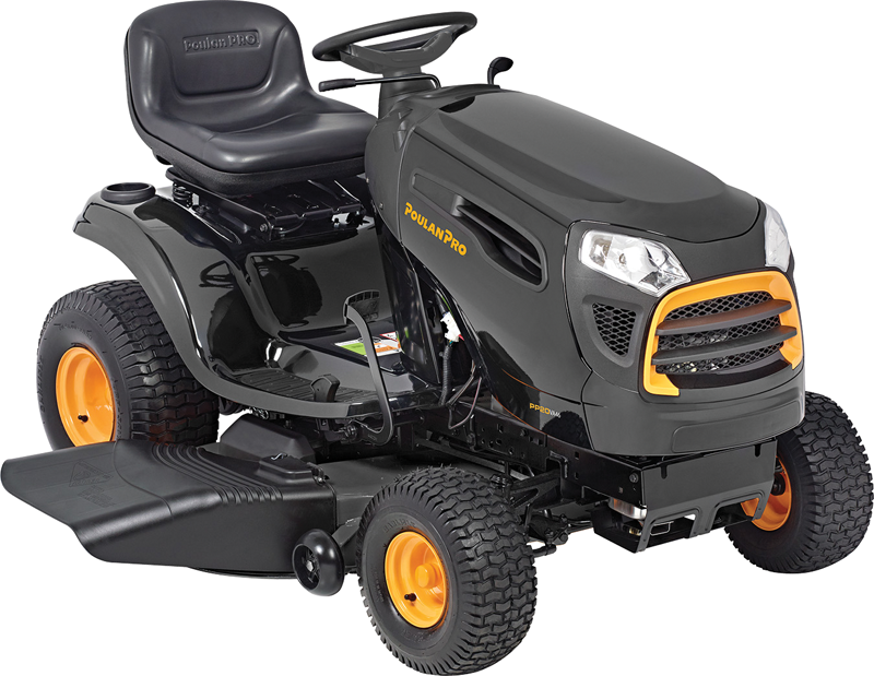 Poulan Pro 20-hp Briggs & Stratton V-Twin engine 42-in. deck Automatic transmission