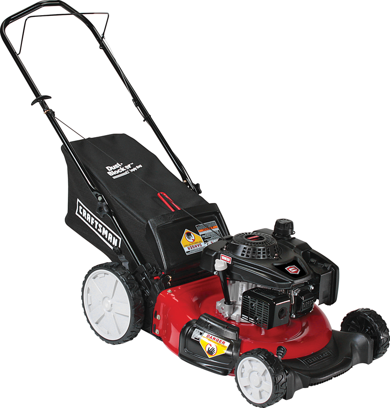 Craftsman 159cc Craftsman OHV engine Rear bag push mower High rear wheels Side discharge, mulch and bag
