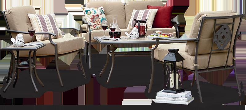 Garden Oasis Brookstone 4-pc seating set